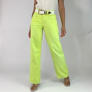 1990's Vintage Hand Dyed Wide Leg Pants